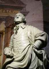 George Washington statue, the forefather of the U. S.