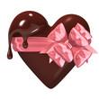 MeltingHeart-shapedChocolateWithRibbon