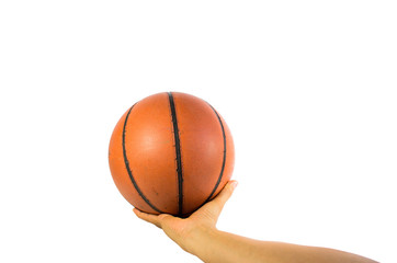 Basketball ball  isolated over white background