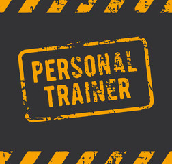 Rubber stamp with the text personal trainer