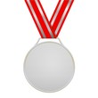 Médaille d'argent sans motifs