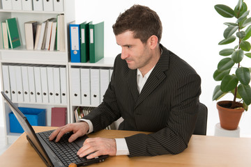 businessman woking with the computer