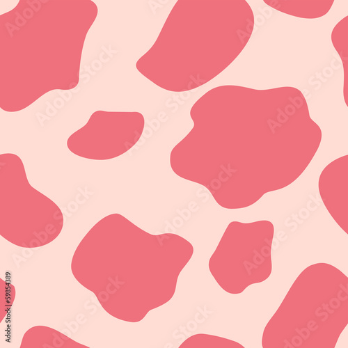 Cow Seamless Pattern Background Vector Illustration