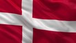 Flag of Denmark waving in the wind - seamless loop
