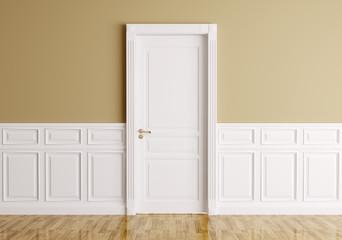 Interior with classic door