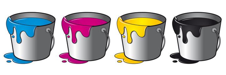 Farbeimer Druck Druckerei