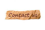 Contact us title on piece of paper