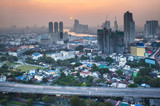 Urban City Skyline, Bangkok, Thailand.