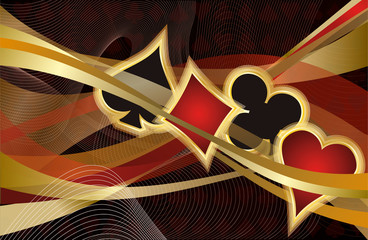 Casino Poker banner, vector illustration