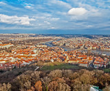 Panoramic view of Prague from Petrin tower
