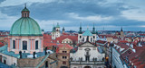 Aerial view of the Prague Old Town with Salvator Church poster