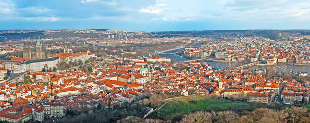Panorama of the main Prague seesights