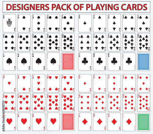 Pack of poker casino cards