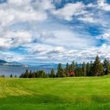 Golf Tee at Kelowna Lakeshore Road Okanagan Valley BC poster