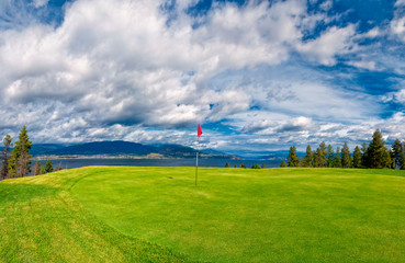 Golf Tee at Kelowna Lakeshore Road Okanagan Valley BC