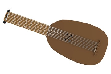 realistic 3d render of lute