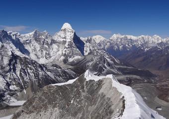 Panorama depuis le sommet de l'Island Peak - 6189 m, Népal