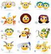 Zodiac Signs - Icons/Smiley Figures - Vector Set - 59861148