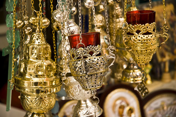 The image of subjects of church utensils
