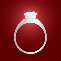 engagement ring with diamond eps10