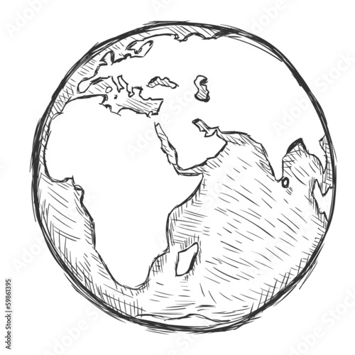 vector sketch illustration - globe