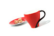 Red Cup on the white background (isolated)