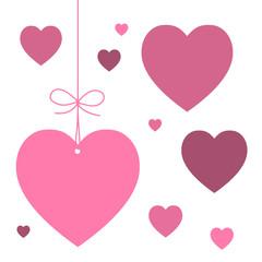 ETIQUETTES COEURS (je t'aime saint valentin carte fête amoureux)