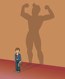 You are stronger than you think, big super hero shadow poster