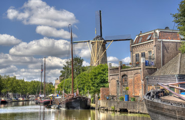 Windmill in Gouda, Holland