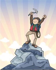 Winner, on top of the mountain