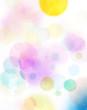canvas print picture - aquarell abstrakt kreise bunt