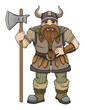 Hand drawn Viking, dwarf