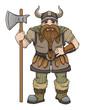 Hand drawn Viking, dwarf