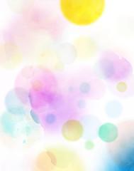 aquarell abstrakt kreise bunt