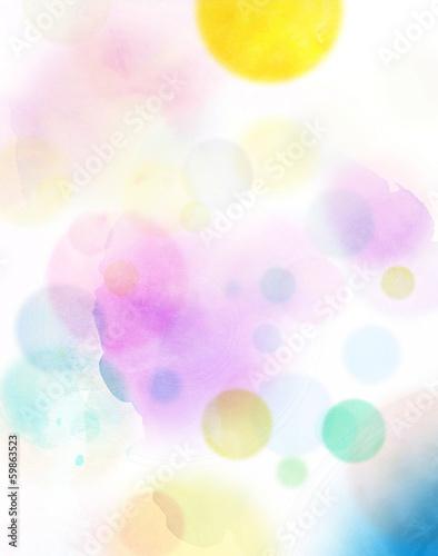 canvas print picture aquarell abstrakt kreise bunt