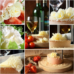 Swiss cheese collage - Tete de Moine