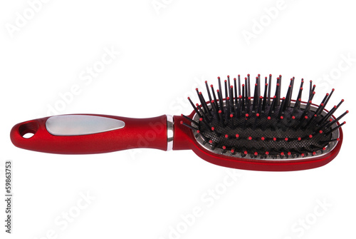 Hair brush massage.