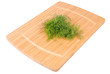 Kitchen board whith salad. Clipping path included.