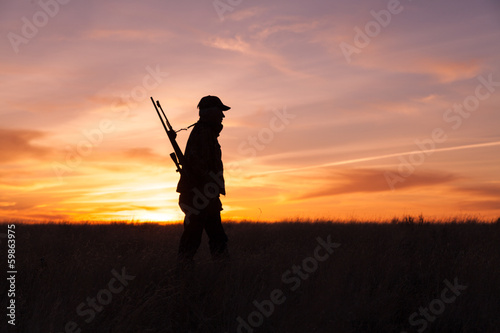 Hunter at Sunset