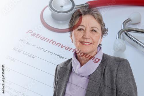 Leinwanddruck Bild Senior woman portrait - elder woman isolated on white background
