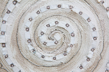 White mandala close-up