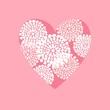 Valentine, wedding, birthday card or invitation, vector