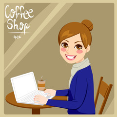 Woman In Coffee Shop
