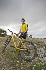 Mountain bike posing guy