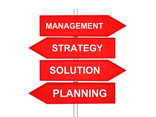 arrows with conceptual image of strategy