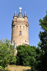 The Flatowturm Tower in Babelsberg park, Potsdam (Germany)