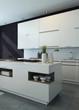 Modern design kitchen interior