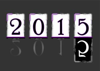 Nouvel an 2015 - Calendrier Fond Saint Sylvestre
