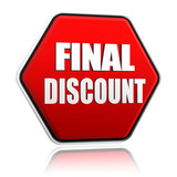 final discount on red hexagon banner