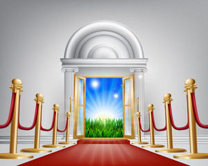 Red carpet door to your future